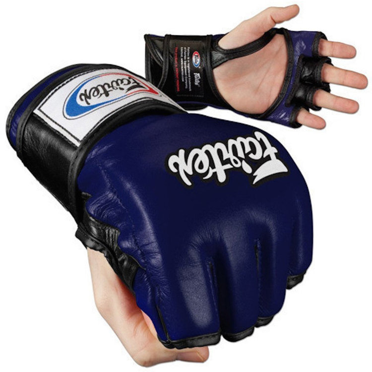 Перчатки для MMA Fairtex FGV12 Blue Black