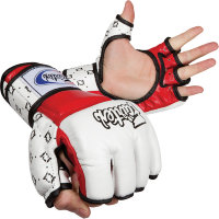 Перчатки для MMA Fairtex FGV17 White Red